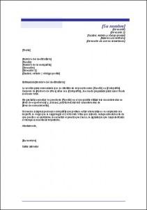 Modelo de carta anunciando búsqueda de trabajo