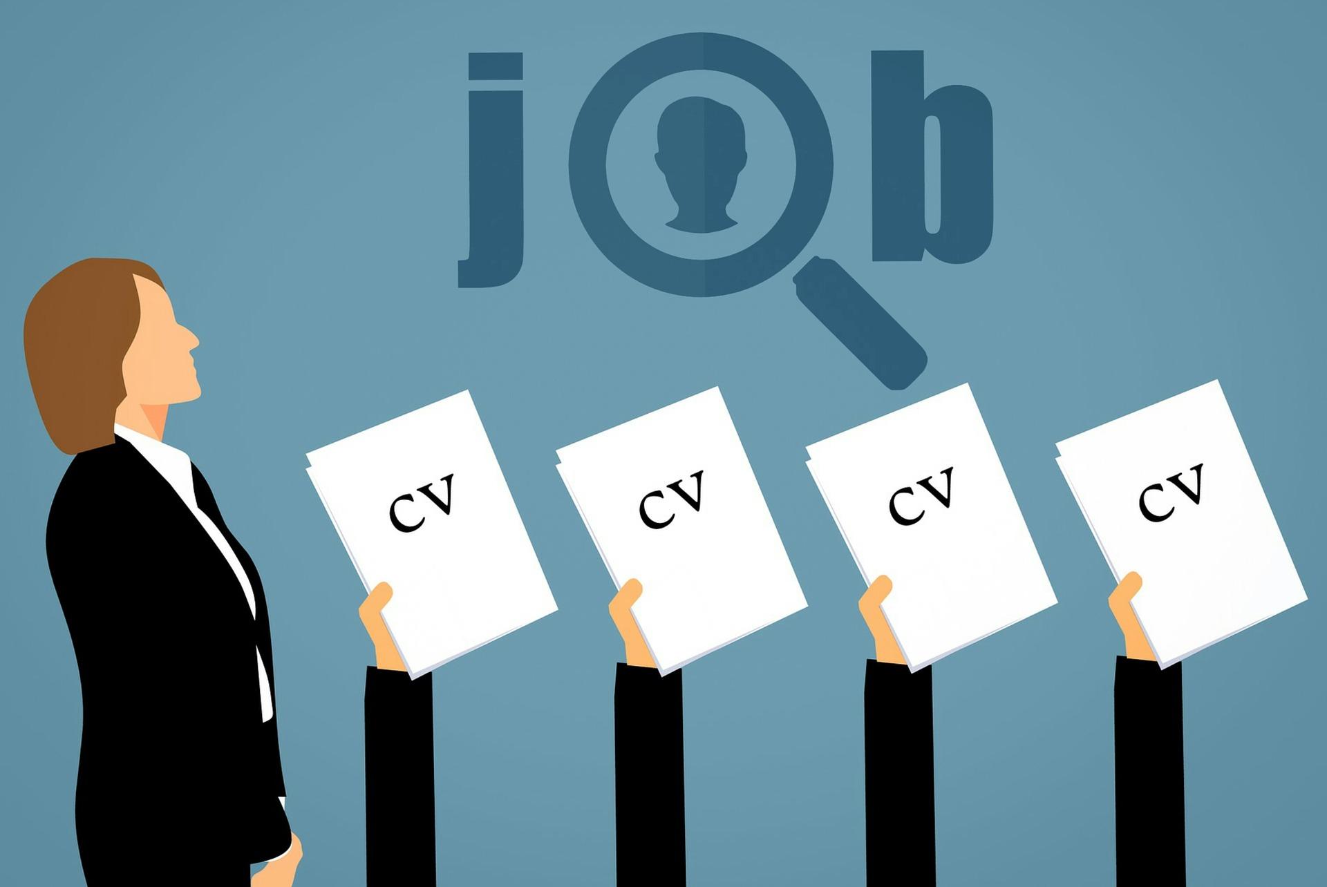 currículum vitae, candidatos, puestos de trabajo