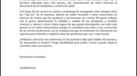 Carta de Presentación Modelo 1